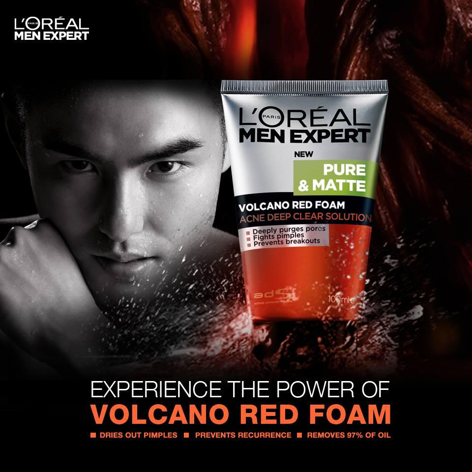 volcano red foam