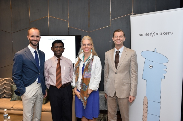 Panelists at the launch of Smile Makers in Singapore -